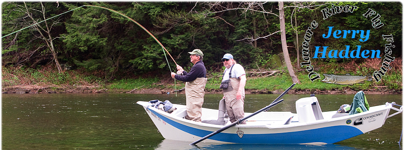 Fly fishing the Delaware river for wild brown and rainbow trout.