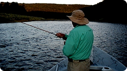 Upper Delaware River guide service fly fishing float trips.